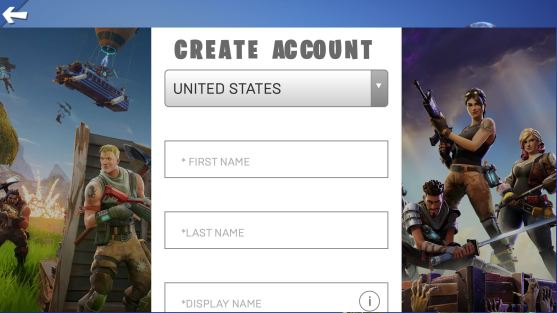 Create an account by entering your personal info